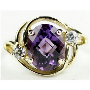 R021, Brazilian Amethyst, Gold Ring