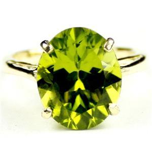 R055, Manchurian Peridot, Gold Ring