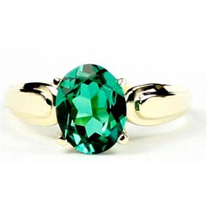 R058, Russian Nanocrystal Emerald, Gold Ring