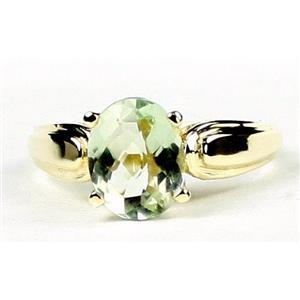 R058, Green Amethyst (Prasiolite), Gold Ring