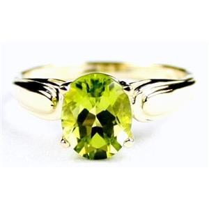 R058, Peridot, Gold Ring