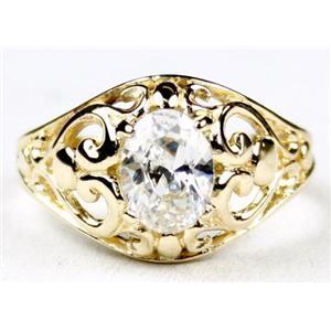 R111, Cubic Zirconia, Gold Ring