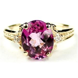 R136, Pure Pink Topaz, Gold Ring