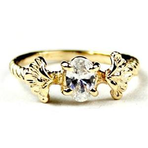 R192, Cubic Zirconia, Gold Ring