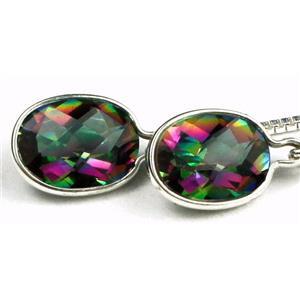 SE005, Mystic Fire Topaz, 925 Sterling Silver Earrings