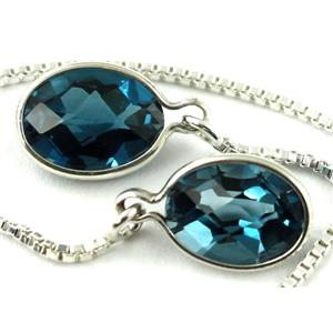SE005, London Blue Topaz, 925 Sterling Silver Earrings