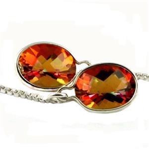 SE005, Twilight Fire Topaz 925 Sterling Silver Earrings