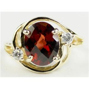R021, Mozambique Garnet, Gold Ring