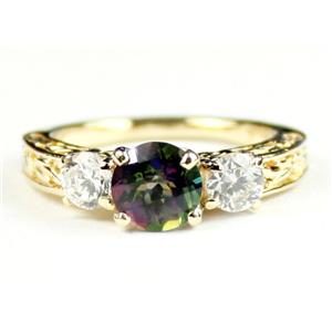 R254, Mystic Fire Topaz w/ Accents, Gold Ring
