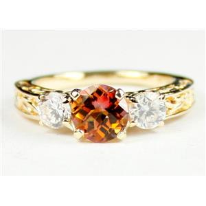 R254, Twilight Fire Topaz w/ Accents, Gold Ring