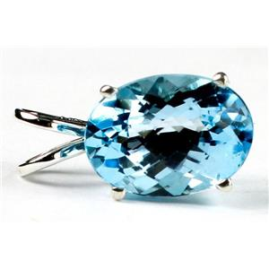 SP006, Swiss Blue Topaz 925 Sterling Silver Pendant