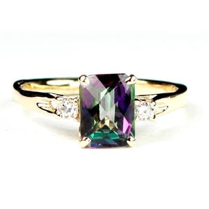 R171, Mystic Fire Topaz, Gold Ring