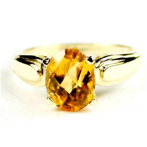 R058, Genuine Citrine, Gold Ring