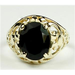 Black Onyx, Gold Ring, R004