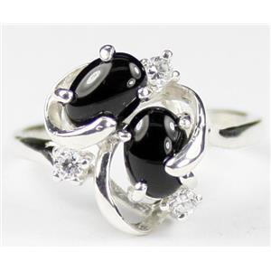 SR016, Black Onyx, 925 Sterling Silver Ring