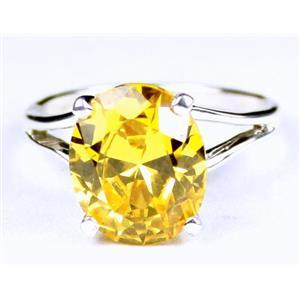 Golden Yellow CZ, 925 Sterling Silver Ring, SR132,
