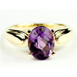R058, Amethyst, Gold Ring