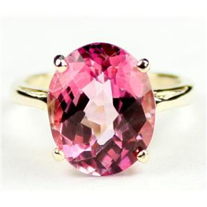 R055, Pure Pink Topaz, Gold Ring