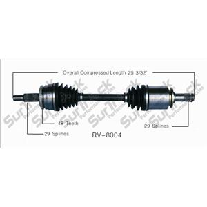 CV Drive Axle Shaft Fits Land Rover LR3, LR4, Rand Rover 2006-10 Front D