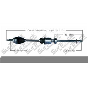 CV Drive Axle Shaft Fits Mini Cooper A/T Supercharged 2005-08 front P
