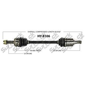 CV Drive Axle Shaft Fits Hyundai Accent 1.6L DOHC, CVVT M/T 2007-10 Front D