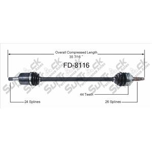 CV Drive Axle Shaft Fits Ford Escort ZX2 1998-03 Front P