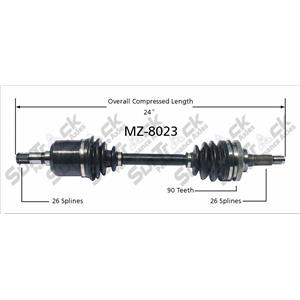 New CV Drive Axle Shaft Fits Ford Probe Mazda 626, MX-6 1988-92 Front D