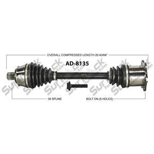 CV Drive Axle Shaft Fits Audi A6 3.0L, 4.2L 6 spd A/T 2005-10 Front P