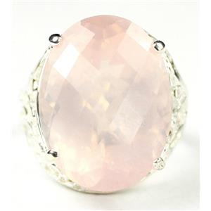 SR291, 20ct Rose Quartz, 925 Sterling Silver Ring