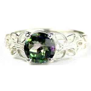 SR292, Mystic Fire Topaz, 925 Sterling Silver Ring