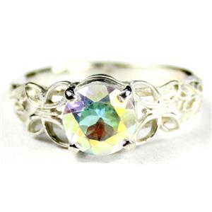 SR292, Mercury Mist Topaz, 925 Sterling Silver Ring