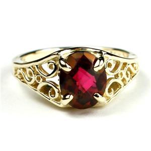 R005, Crimson Fire Topaz, Gold Ring
