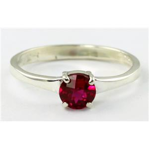 SR301, Created Ruby, 925 Sterling Silver Ring