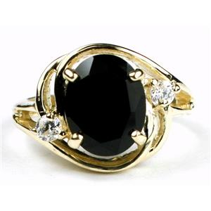 R021, Black Onyx, Gold Ring