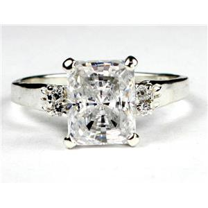 SR221, Cubic Zirconia (CZ), 925 Sterling Silver Ring