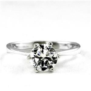 SR311, Cubic Zirconia, 925 Sterling Silver Ring