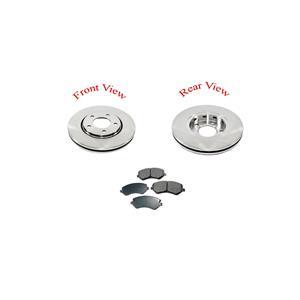 01-07 Caravan Town & Country Front Brake Rotors 11 1/8 Inch 53002 & Ceramic Pads