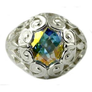 SR313, Mercury Mist Topaz, 925 Sterling Silver Ring