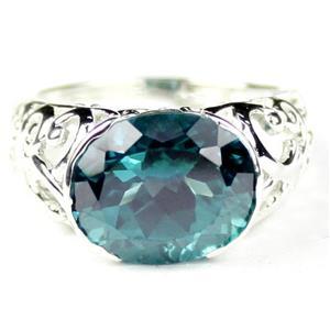 Paraiba Topaz 925 Sterling Silver Ladies Ring, SR360