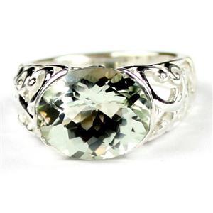 Green Amethyst (Prasiolite), 925 Sterling Silver Ring, SR360