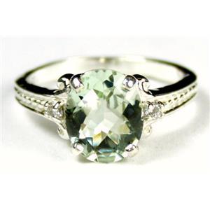 SR136, Green Amethyst, 925 Sterling Silver Ring