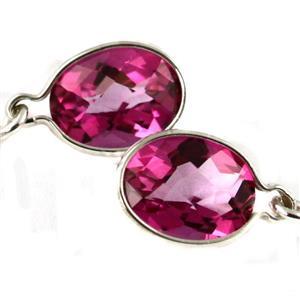 SE005, Pure Pink Topaz, 925 Sterling Silver Earrings