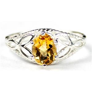 SR137, Citrine, 925 Sterling Silver Ring