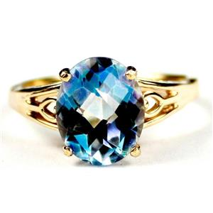 R139, Neptune Garden Topaz, Gold Ring