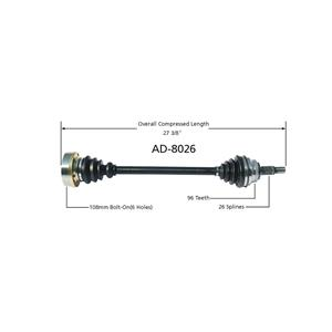 CV Drive Axle Shaft Fits Audi 5000 1980-88 Front Driver Side
