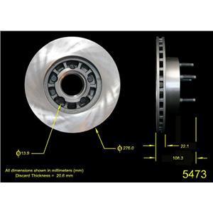 Qualis 5473 Disc Brake Rotor, Front (2) Front Rotors 4x4 Models