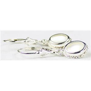 SE006, Mother of Pearl, 925 Sterling Silver Rope Earrings