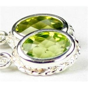 SE006, Peridot, 925 Sterling Silver Rope Earrings