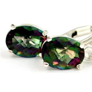 Mystic Fire Topaz, 925 Sterling Silver Earrings, SE007