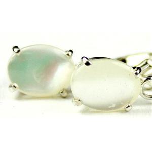 Mother of Pearl, 925 Sterling Silver Earrings, SE007